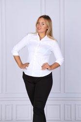 Biała koszula damska PLUS SIZE