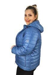 Niebieska, przejściowa kurtka xxl z kapturem
