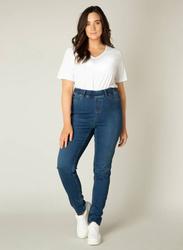 Niebieskie spodnie jeans XXL wyszczuplające TESSA