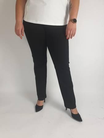 Czarne spodnie Miya z grubej dzianiny, wysoki stan