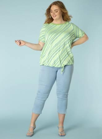 Damskie spodnie jeans ze streczem z zamkami przy nogawkach